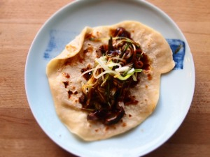 Chinese Pancakes with Duck and Hoisin
