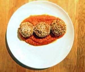 Grain Free Chicken Parm Meatballs